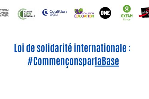 Loi de solidarité internationale : alors que les inégalités mondiales se creusent, la France doit faire plus