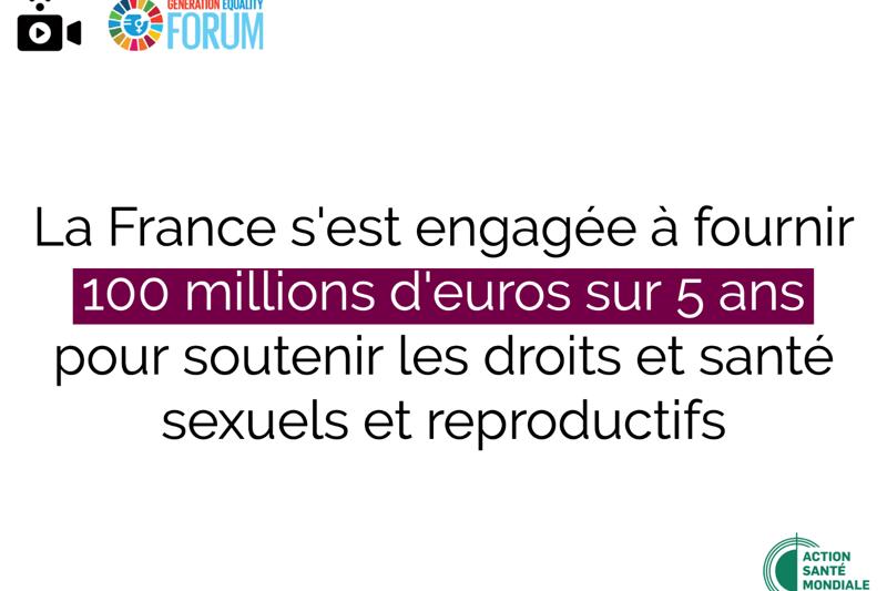 Forum Génération Égalité : un petit pas en avant pour les droits et la santé sexuels et reproductifs