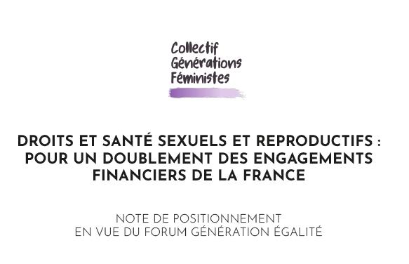 Propositions pour un doublement des engagements financiers de la France sur les questions de droits et santé sexuels et reproductifs