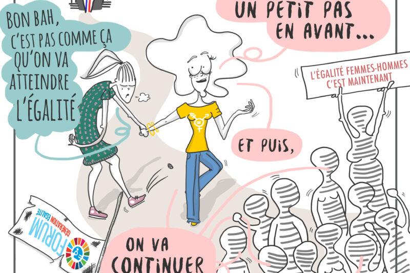 En dessin : un petit en avant pour les droits et la santé sexuels et reproductifs des femmes