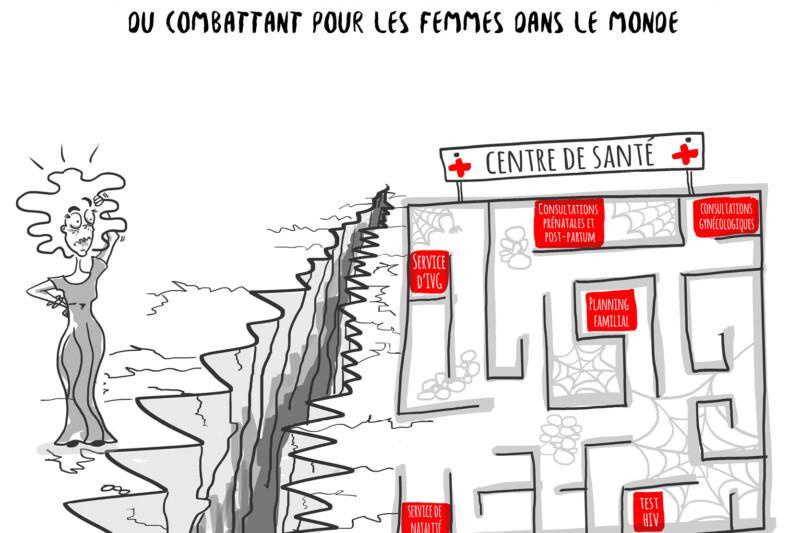 En dessin : Accès à la santé sexuelle et reproductive, un parcours du combattant pour les femmes